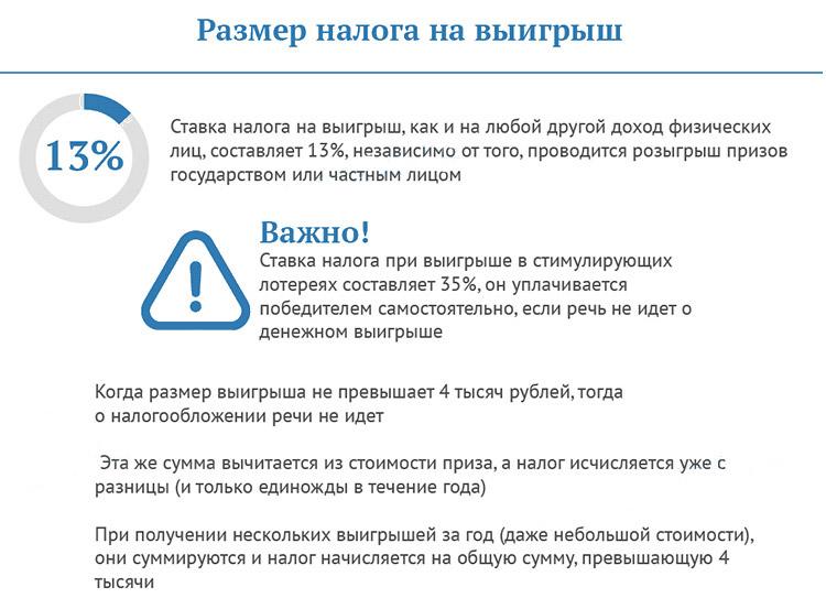 налог на выигрыш в России